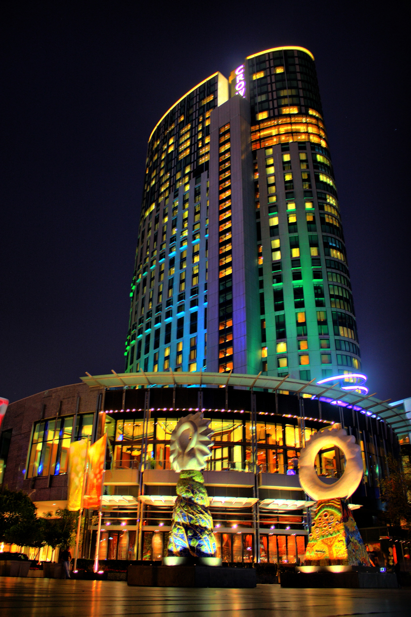 Crown casino power casino lighting and sign las vegas